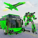Army Bus Robot Transform Wars – Air jet robot game icon