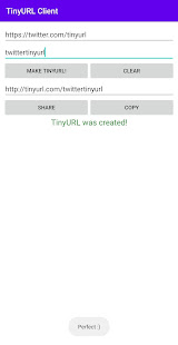 TinyURL Client - Shorten Long URLs for PC-Windows 7,8,10 and Mac apk screenshot 1