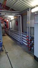 Photo: Warmtewisselaar van de destillatiekolom. Geschikt voor het destilleren van viskeuze producten met vaste delen.