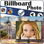 Billboard photo montages frame