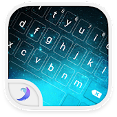 Emoji Keyboard-Night Sky Cyan