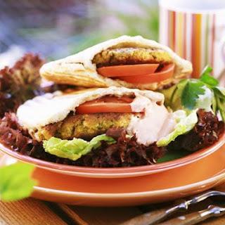 Veggie Pitta Burgers