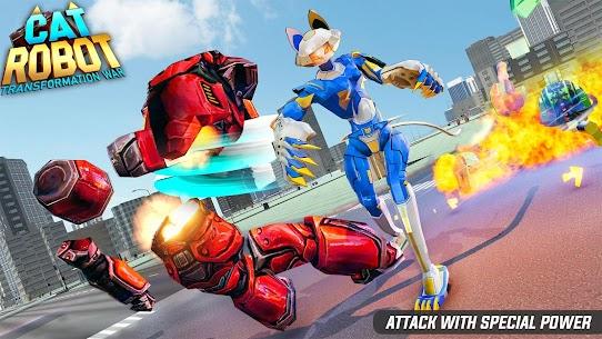 Cat Robot Car Game – Car Robot War 1