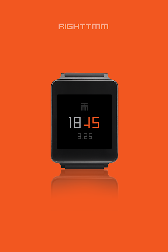 RIGHTTMM - watchface to Wear