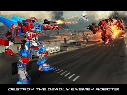 Super Robot Air Hero : Robot Transformation Battle