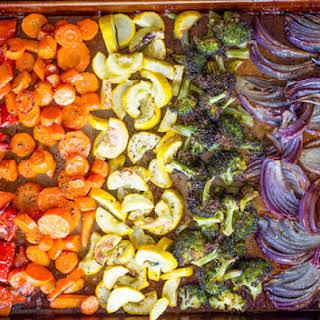 Rainbow Roasted Vegetables.