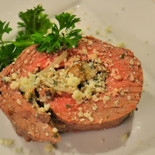 Portobello Blue Cheese Stuffed Flank Steak Pinwheels Recipe