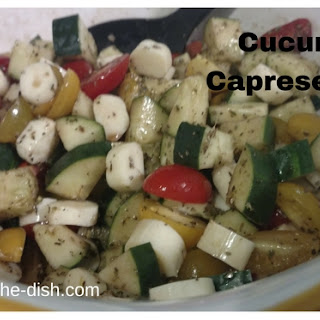 Cucumber Caprese Salad for a Summertime side dish.