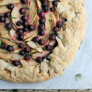 Herbed Fruit Crostata with Apples and Grapes