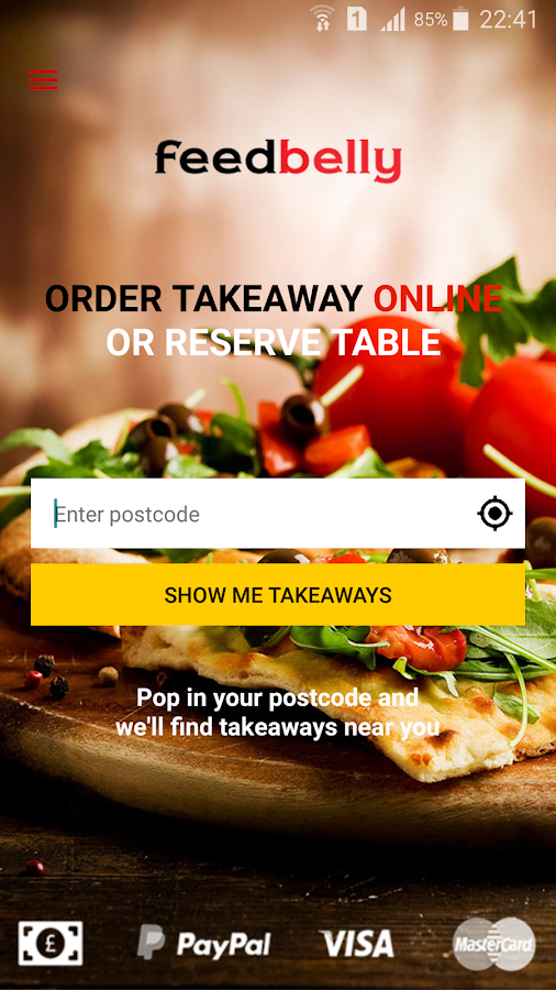 feedbelly - takeaway delivery- screenshot