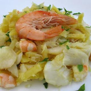 Cod 'à Brás' With Shrimp.