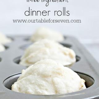 Three Ingredient Dinner Rolls