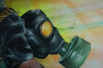 Photo: April 26: Gas Mask Art
