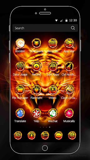 Fire Tiger Theme 1.1.4 screenshots 5