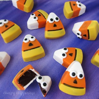 Halloween Treats - Chocolate Candy Corn Truffles