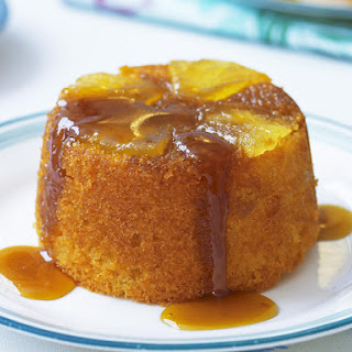Tipsy Pineapple and Rum Puddings