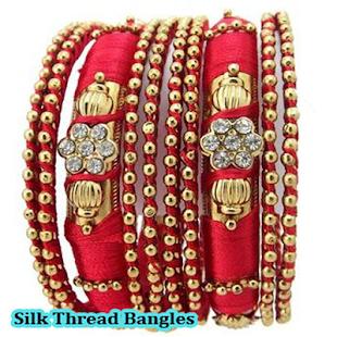 Silk Thread Bangles - náhled