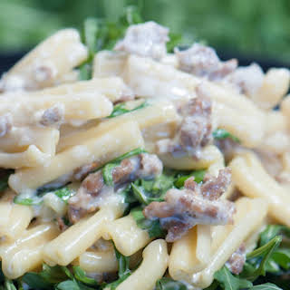 Pasta With Sausage and Arugula.