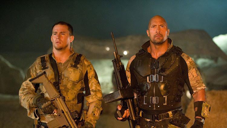 Catch Dwayne Johnson alongside Channing Tatum in the 2013 military sci-fi 'G.I. Joe: Retaliation'.