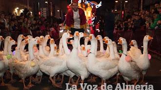 Las ocas de Miguelín en la cabalgata de Reyes de 2015.