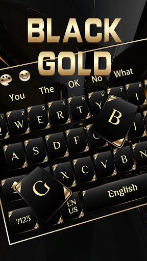 black gold keyboard screenshot 2