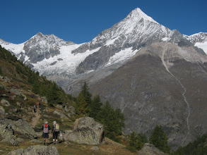 Photo: The magnificent Weisshorn  (14,783 ft. / 4,506 m) totally dominates the view ...