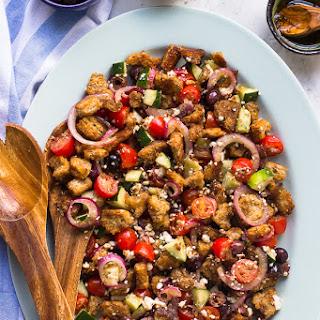 Easy Greek Panzanella Salad