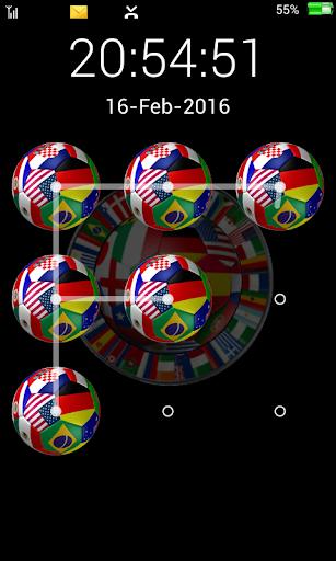Football Screen Lock Pattern