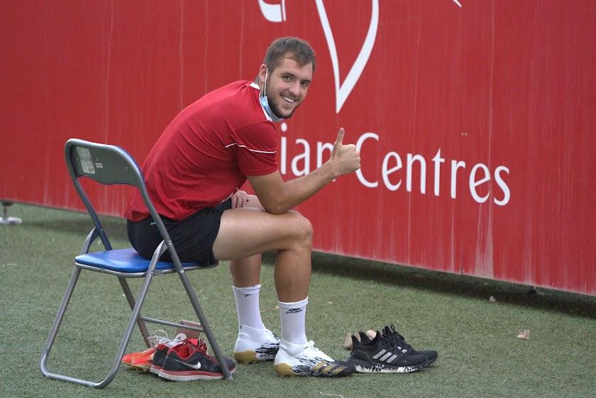 El Almería ya entrena en el Estadio