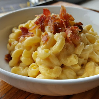 Powder-Milk Stove Top Mac & Cheese with Bacon and Beer