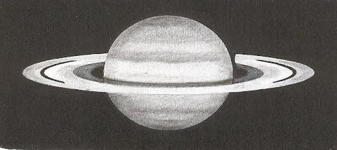 Photo: Saturne le 12 mars 2008 à 21H40TU. Images médiocres. T406 à 350X en bino.