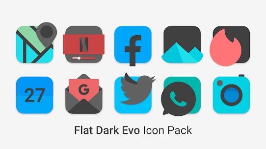 Flat Dark Evo – Icon Pack 1