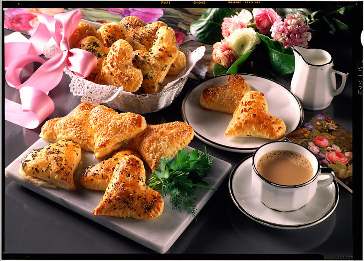 Savory Puff Pastry Hearts Recipe | Yummly