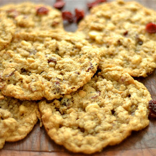 Gluten Free Oatmeal Cranberry and White Chocolate Chip Cookies.