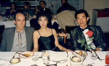 Photo: Still a tad unsure of the 'black tie' concept studley Seth Langer escorts Doris to dinner with the amazing Stuart Ong. Carlton Hotel, 1986.
