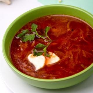 Borscht Recipe (Beet Soup).
