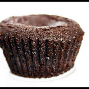 Chocolate Muffins with White Chocolate Filling