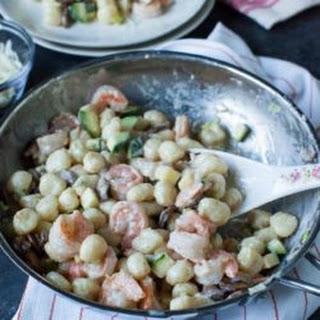 Shrimp Alfredo Gnocchi.