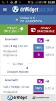 Screenshot of DrWidget Baza Leków