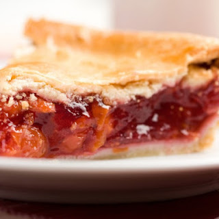 Rhubarb And Sour Cherry Pie