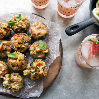Bruschetta Stuffed Mushrooms