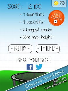 Stickman Trampoline PRO - screenshot thumbnail