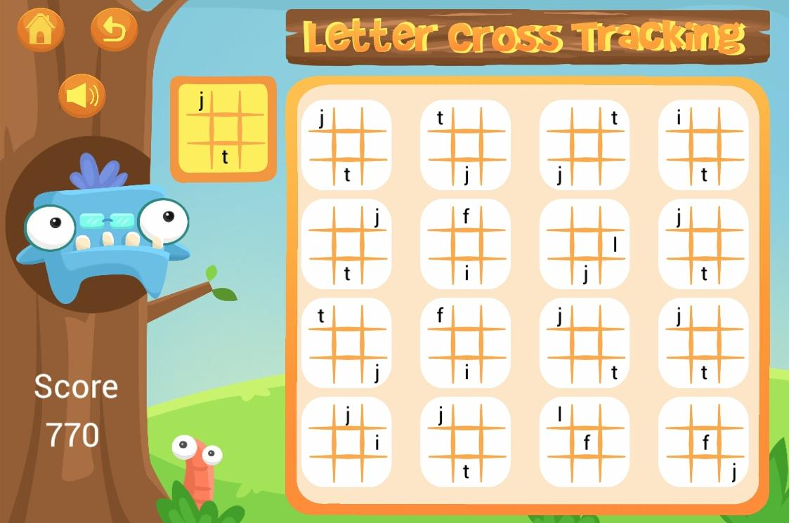 Letter Cross Tracking- screenshot