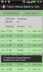Download Chennai Local Train Timetable App for Android 3