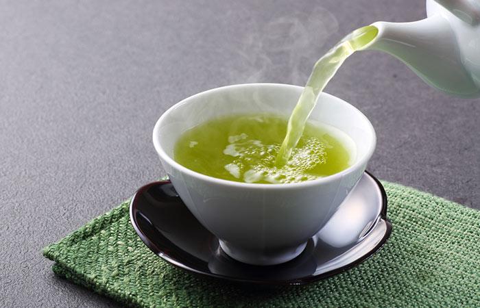 Green-Tea-And-яйцевидной для обработки волос