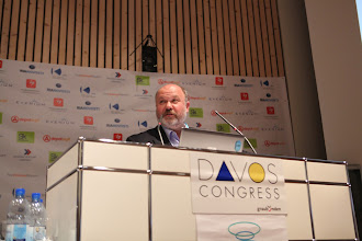 """Photo: Sergey Zverev speaking - """"Latest Trends for Comms Consultancies"""" Panel - 2012"""