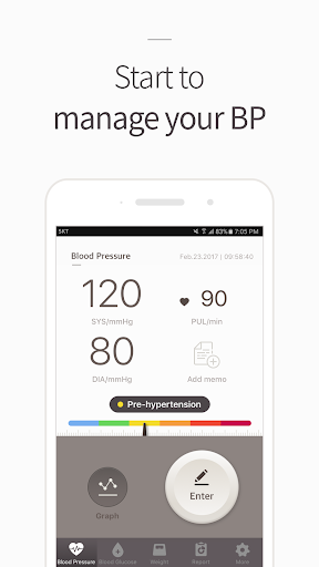 Blood Pressure(BP) Diary screenshot for Android