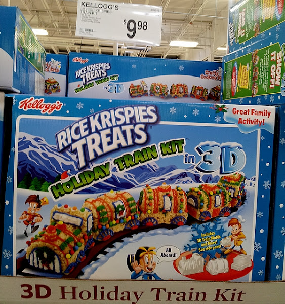 Photo: We got a bit sidetracked by the Christmas aisles. It's a weakness of ours. But how cute is this train kit? And it's a big kit for less than $10! Now that's great value for a yummy activity to keep the kids busy.