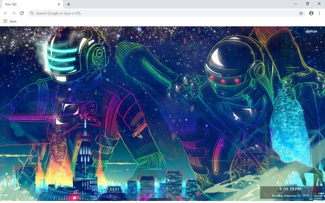 Daft Punk New Tab & Wallpapers Collection