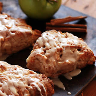 Apple Cinnamon Ricotta Scones with Whiskey Glaze.